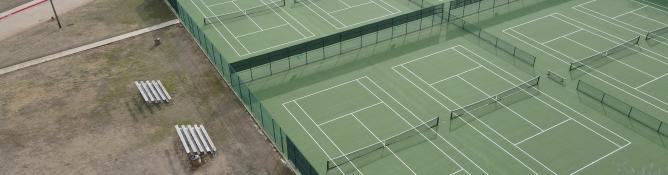 Lake Worth ISD New Tennis Court Construction