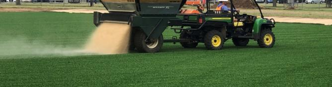 Installation of synthetic ACFT field nears completion